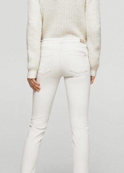Białe Jeansy Low Waist