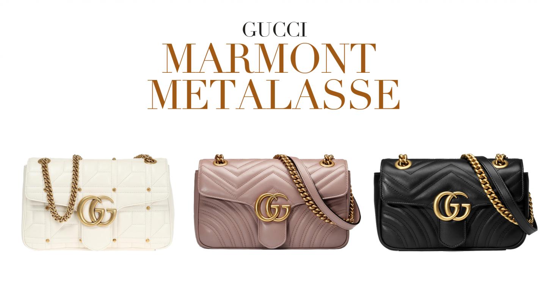 f1aa563ea3382 Gucci Marmont – Świetna torebka która od wprowadzenia w 2016 roku nowego  logo przez Alessandro Michele błyskawicznie stała się hitem stylizacji. To  pikowana ...