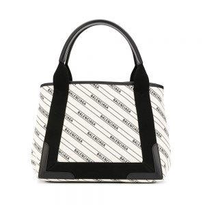 BALENCIAGA logo print shopping bag