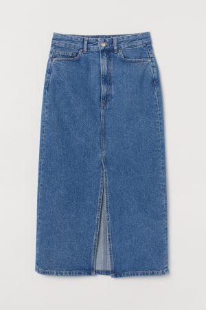 Dżinsowa spódnica do łydki