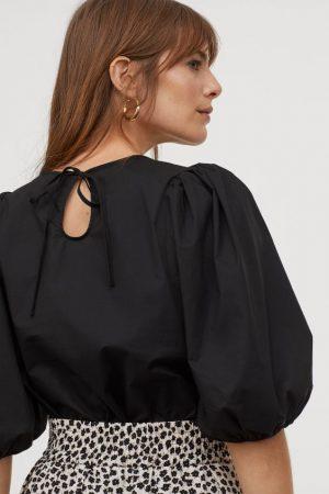 Bluzka z bufiastym rękawem