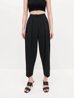 Szerokie spodnie garniturowe
