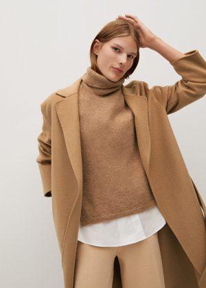 Wełniany płaszcz handmade