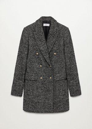 Płaszcz kopertowy z teksturą