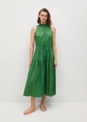 Bawełniana sukienka z falbaną